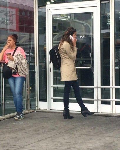 NINA a l'aéroport de NYC