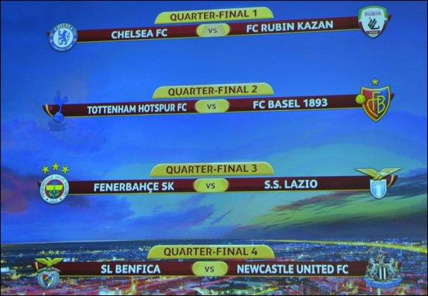 Quart De Finales Ligue Europa 20013