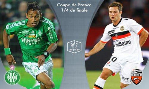 St Etienne- Lorient Resumer Quart De Finale De La Coupe De France 2012-2013