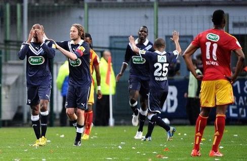 Coupe de France: Bordeaux, vainqueur à Lens, qualifié