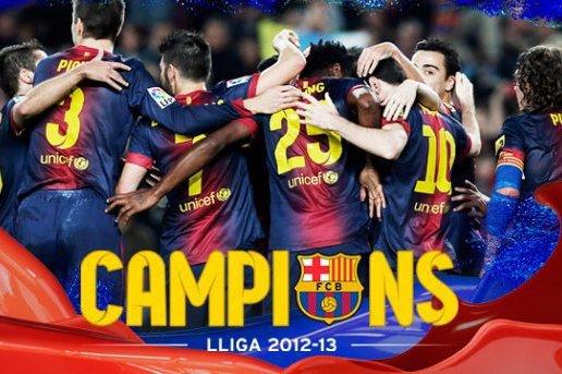 Fc Barcelone Champion 2012-2013