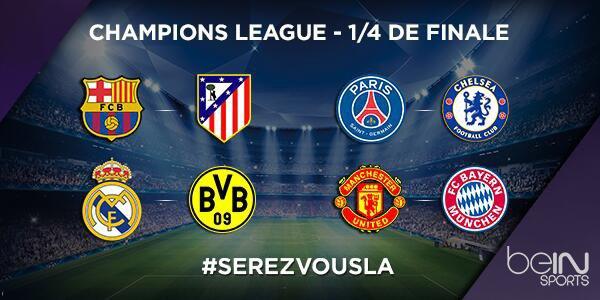 Equipe Qualifie Pour Les Quarts De Finale De La Ligue Des Champions 2014