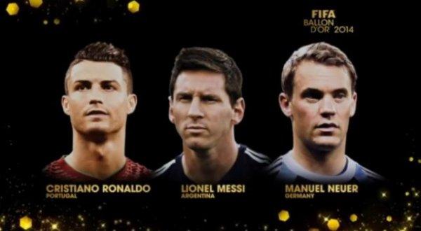 Ballon d'Or FIFA 2014: Cristiano Ronaldo, Lionel Messi et Manuel Neuer finalistes