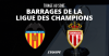 L'AS Monaco face à Valence en barrages de la Ligue des champions