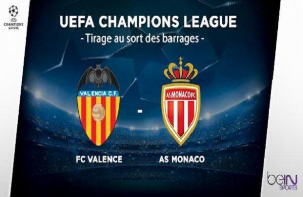 Monaco dominé par Valence en match aller des barrages