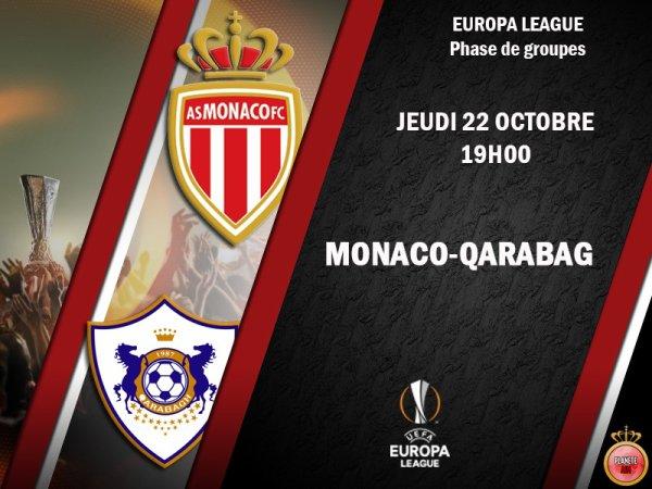 Ligue Europa : Monaco domine Qarabag (1-0) et prend la tête du groupe J