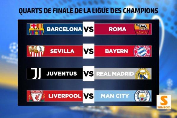 Ligue des champions : Juventus-Real Madrid et Liverpool-Manchester City en quarts de finale