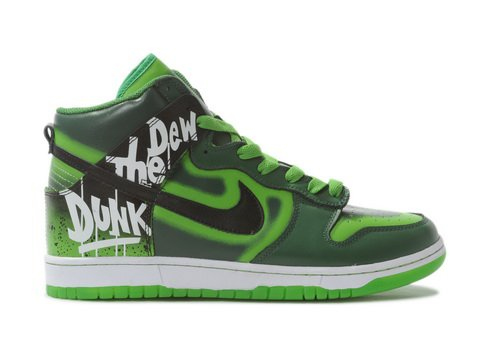Nike Do The Dew Green Label Art Event Dunk High