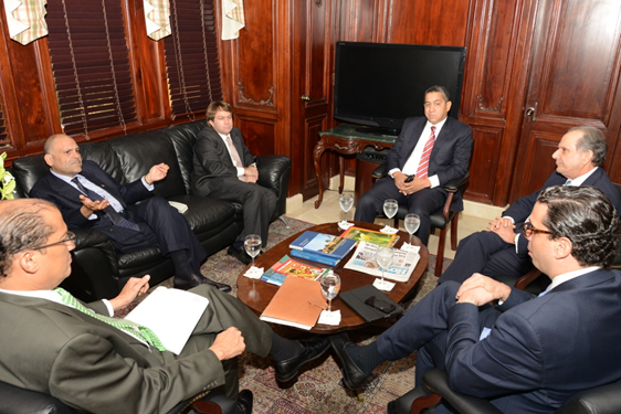 Minister Asot Michael meets with Acting Minister of Foreign Affairs of the Dominican Republic, Ambassador Jose Manuel Trullos and other key individuals.