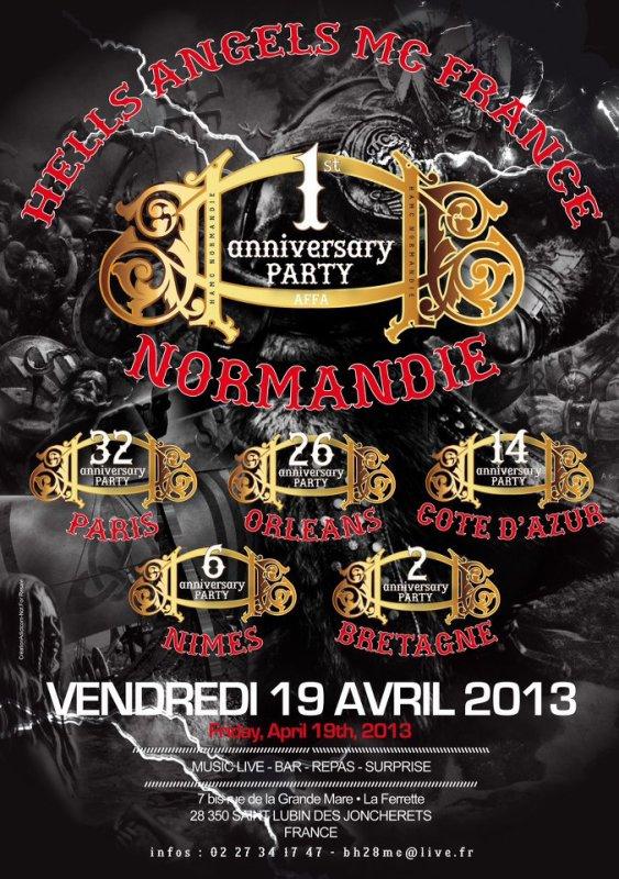 1er anniversaire du chapitre Normand