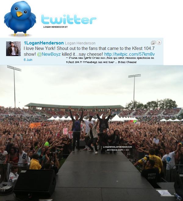 LOGAN ET TWITTER ▬ @1LoganHenderson  à twitter & poster une photo le lundi six juin.