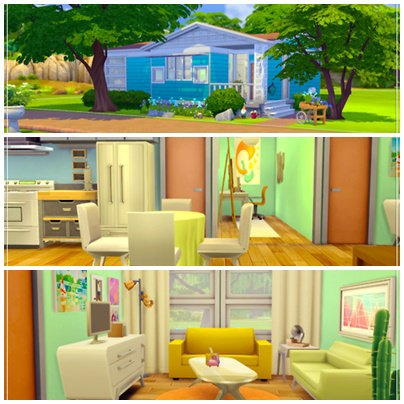 Article 01 maisons sims 4 sims 4 houses fox creation for Maison prefabriquee sims 4
