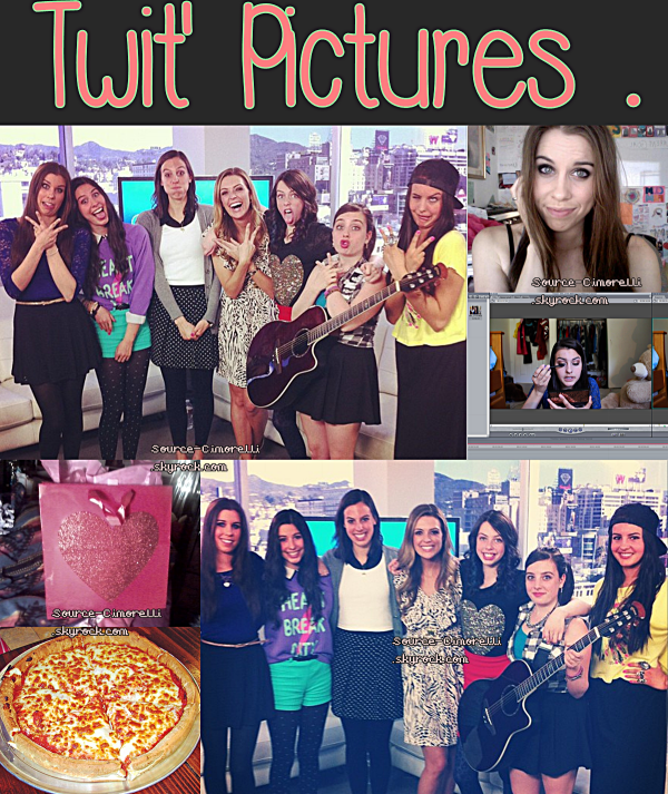 Interview Bonus chez HollyWire . The Cimorelli News ( Traduction ) . Make- Up tuto de Lisa .