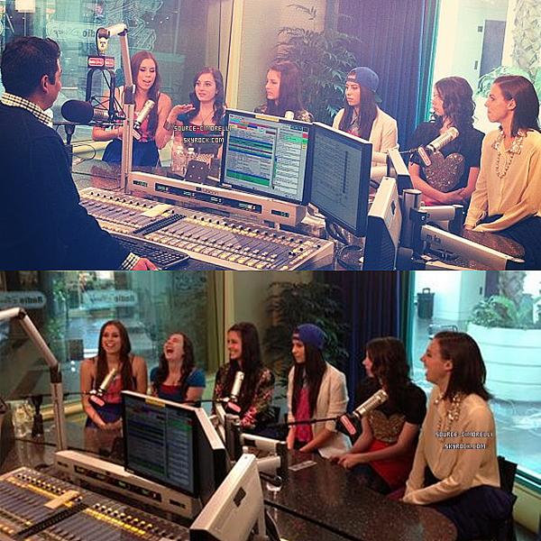 Les Cimorelli en Studio ./ Les Cimorelli ont été a la Radio de Disney .
