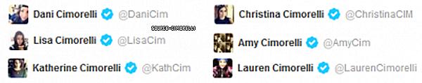 Les Cimorelli ont enfin eu leur comptes personnels certifiés sur Twitter.