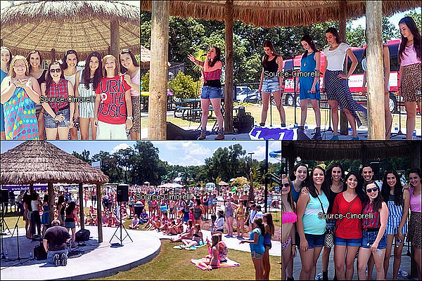 16.07.2013 - Les Cimorelli ont performé au parc 'Lions Water Adventure' à Kinston North en Caroline du Nord.