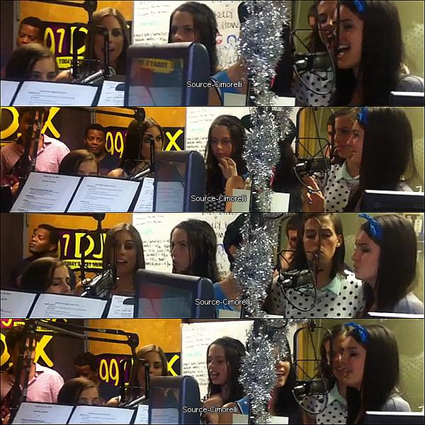 18.07.2013 - Les Cimorelli ont été à la radio 1075 The River à Nashville.