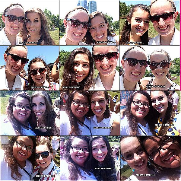20.07.2013 - Les Cimorelli ont organisé un pique-nique gratuit au Grant Park à Chicago dans l'Illinois