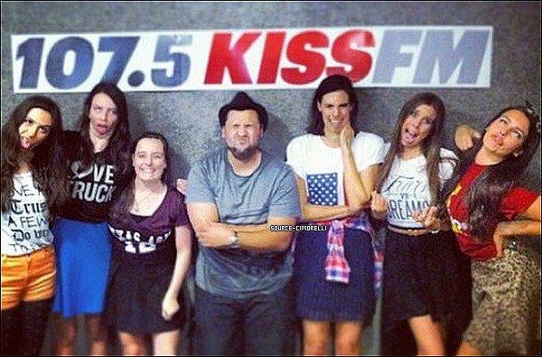 24.07.2013 - Les Cimorelli ont été à la radio 107.5 Kiss FM à Des Moines dans l'Iowa.