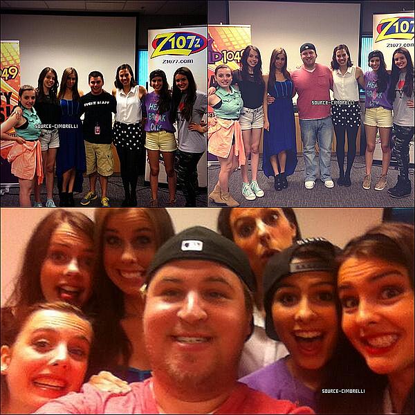 25.07.2013 - Les Cimorelli ont été à la radio Mix 93.3 à Kansas City dans le Missouri.