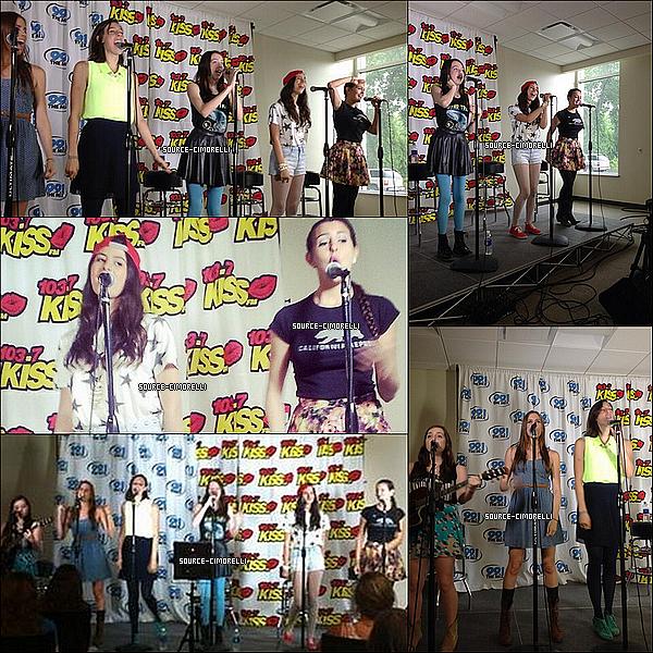 26.07.2013 - Les Cimorelli ont été à la radio 103.7 Kiss FM à Milwaukee dans le Wisconsin.