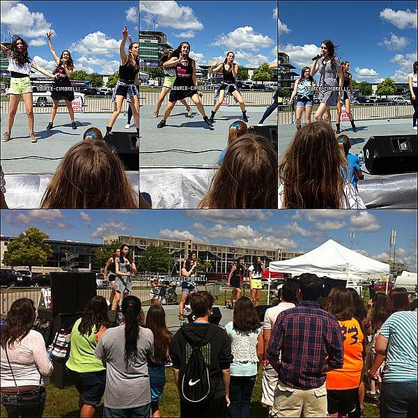 27.07.2013 - Les Cimorelli ont perfomé au Brickyard 400 à Indianapolis avec Radio Disney.
