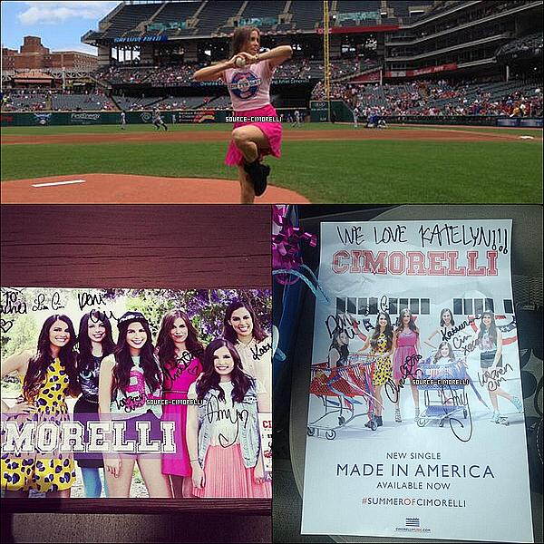 28.07.2013 - Les Cimorelli ont fait un Meet & Greet à Cleveland au Indians Game dans l'Ohio.