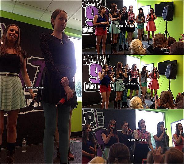 29.07.2013 - Les Cimorelli ont été à la radio 96.5 Kiss FM à Cleveland dans l'Ohio.
