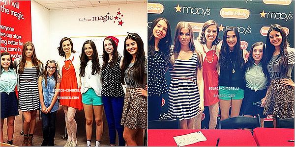 24.08.2013 - Les Cimorelli ont été au Macy's au Castleton Square Mall avec Radio Disney à Indianapolis.
