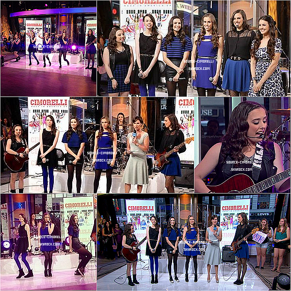28.08.2013 - Les Cimorelli ont performé dans 'Good Morning America' à New York.