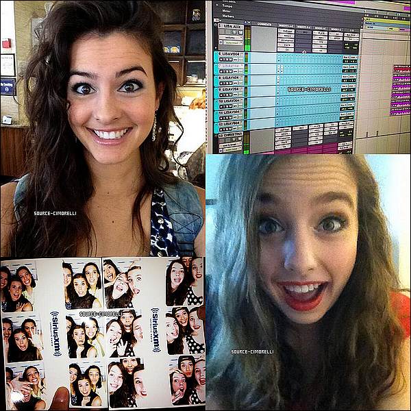 29.08.2013 - Les Cimorelli ont été dans les célébres studios du magazine 'Seventeen'.