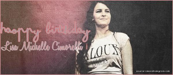 En ce 19 Septembre 2013, nous fêtons les 20 ans de Lisa Michelle Cimorelli!