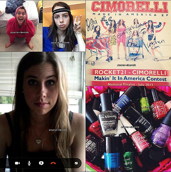 03.10.2013 - Les Cimorelli annoncent en vidéo qu'elles seront en concert à Los Angeles au Americana at Brand le 19 Octobre.
