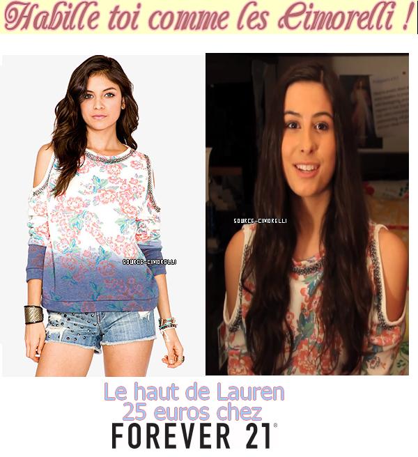 09.10.2013 - Lauren a posté une nouvelle vidéo mode 'Fall Fashion Inspiration' .