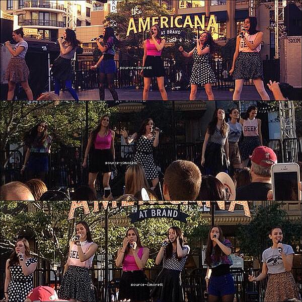09.10.2013. Les Cimorelli performé au 'The Green' au 'Americana at Brand'.