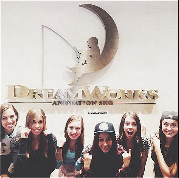 25.10.2013 - Les Cimorelli ont été aux studios DreamWorks.