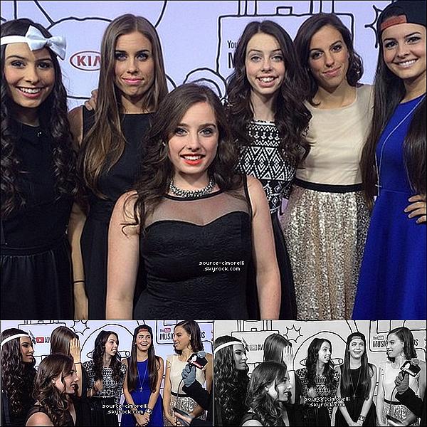 03.11.2013 - Les Cimorelli étaient présentes à la cérémonie des premiers 'Youtube Music Awards' à New York.