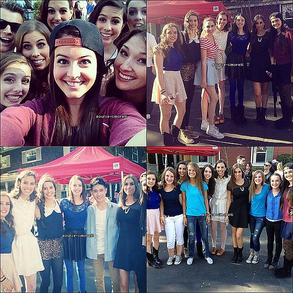 10.11.2013 - Les Cimorelli ont été au Family Day organisé par TJ Martell à LA pour récolter des fonds pour les recherches pour le Cancer.