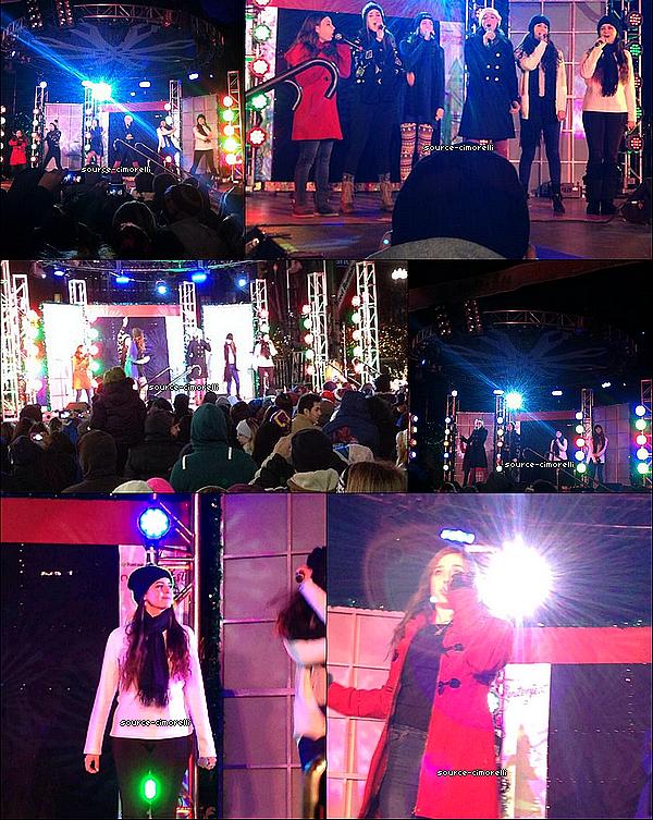 30.11.2013 - Les Cimorelli ont perfomé au Tower City Mall à Cleveland avec Radio Disney.