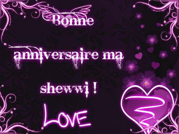 Bonne anniversaire  Rianne !! <3