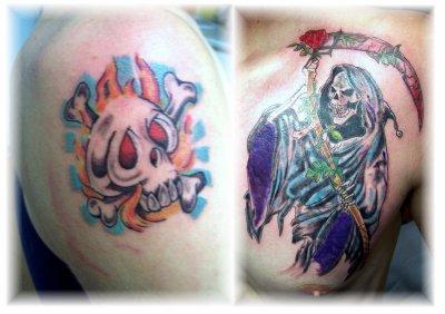 Le père et le fils qui se font tatouer chacun leur style...