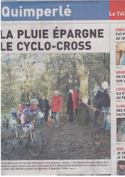 CYCLO-CROSS CHALLENGE CORNOUAILLE SUD : 2ème manche à RIEC SUR BELON.
