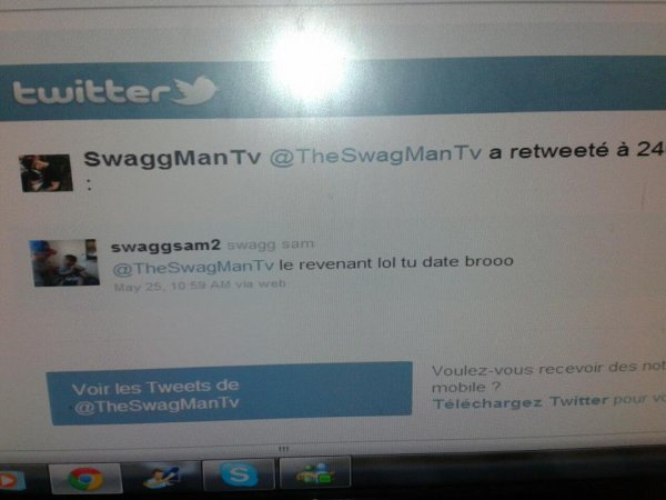 SWAGG MAN ME RETWEETE