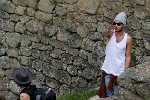 Liam & Harry au Machu Picchu hier (28.04.14)