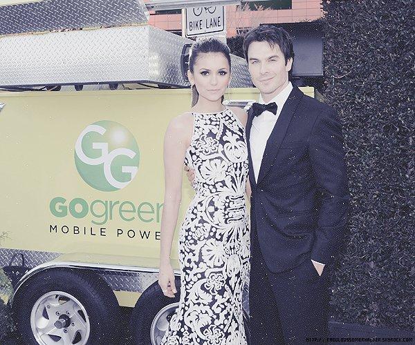 "23/02/13: Ian ainsi que Paul et Nina étaient à la party des ""The Weinstein Company Academy Award"" !"