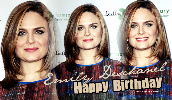 """ Happy Birthday Emily Deschanel "" September 11, 2014 • Posted by DTE"