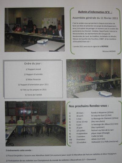 Article N°7 - Bulletin N°6 Assemblée générale du 11 février 2011