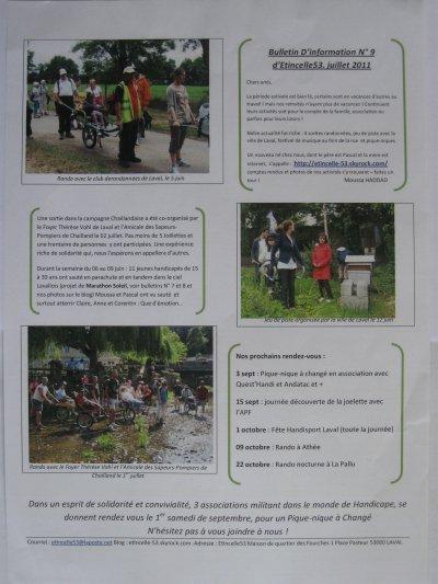 Article N° 18 - Bulletin N° 9  - Le 25 sept. : 10 km des Ecluses avec les Sapeurs Pompier de Laval + Article de presse
