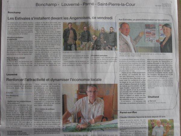 Article N°34 - 13 juillet 2012 - Aux Estivales de Bonchamps les Laval