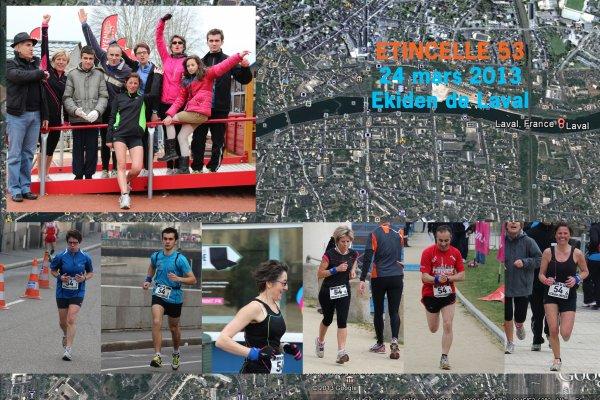 N°46 - 24 mars 2013 : Ekiden de Laval (Marathon Relais) avec Etincelle53